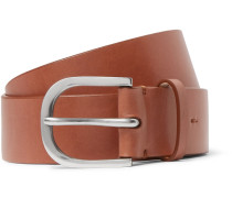 4cm Tan Leather Belt