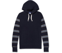 Stripe-panelled Cotton And Wool-blend Hoodie