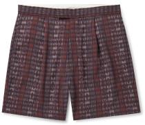 Printed Checked Woven Shorts