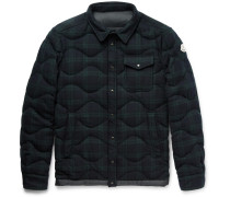 Nambour Black Watch Checked Wool Down Shirt Jacket
