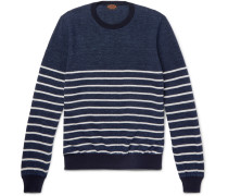 Striped Cotton And Linen-blend Piqué Sweater