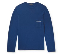 Shore 2.0 Reversible Contrast-Tipped Cashmere Sweater