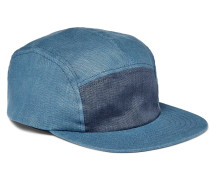 Two-tone Linen Baseball Cap