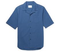 Panama Camp-collar Cotton Shirt
