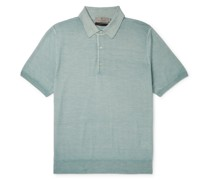 Slim-Fit Wool and Silk-Blend Polo Shirt