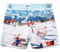 Bulldog Mid-length Printed Swim Shorts