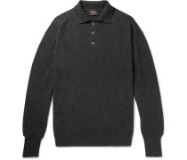 Mélange Cashmere Polo Shirt