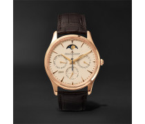 Master Ultra Thin Perpetual 39mm 18-karat Rose Gold And Alligator Watch