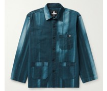 Major Tie-Dyed Enzyme-Washed Cotton-Blend Ripstop Shirt Jacket