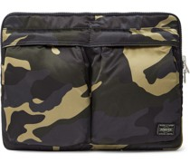 Counter Shade Camouflage-Print Nylon Pouch