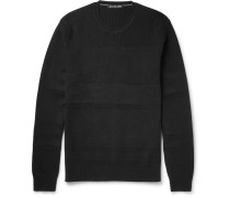Textured-knit Cotton-blend Sweater