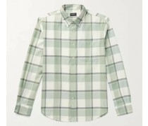 Button-Down Collar Checked Twill Shirt