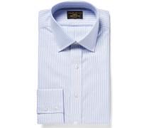 Blue Bengal-striped Cotton Oxford Shirt