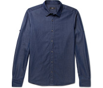 Reid Slim-fit Cotton-chambray Shirt