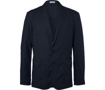 Blue Riviera Slim-fit Cotton Blazer
