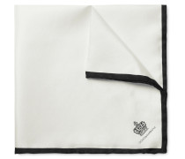 Contrast-trimmed Silk Pocket Square