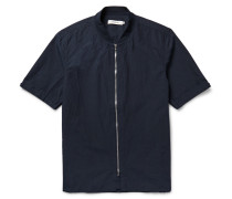 Rancher Slim-fit Washed Cotton And Linen-blend Shirt