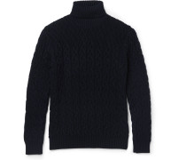 Cable-knit Wool Rollneck Sweater