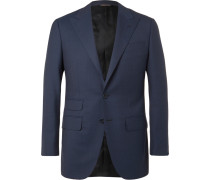 Navy Slim-fit Wool-twill Suit Jacket