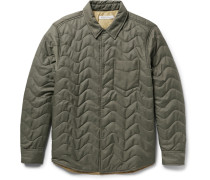 Evolution Slim-fit Quilted Econyl Shirt Jacket