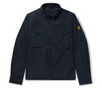 Command Logo-Appliquéd Shell Shirt Jacket