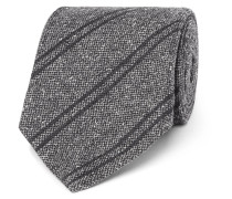 8cm Striped Silk And Wool-blend Jacquard Tie
