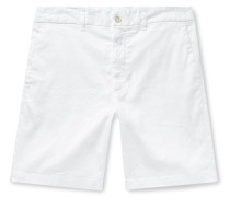 Slim-Fit Garment-Dyed Stretch Linen and Cotton-Blend Twill Shorts