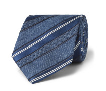 8cm Striped Silk-jacquard Tie
