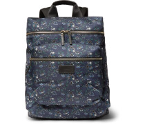 Logan Leather-trimmed Liberty Print Canvas Backpack
