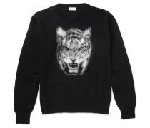 Tiger-intarsia Mohair-blend Sweater