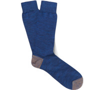 Mélange Cotton-blend Socks