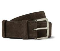 3.5cm Brown Suede Belt