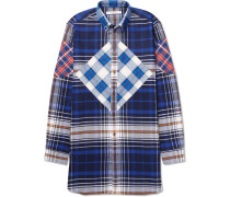 Columbian-fit Button-down Collar Checked Cotton-twill Shirt