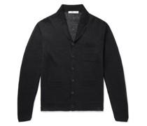 Slim-Fit Camp-Collar Linen Cardigan
