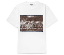 Disruption Printed Cotton-jersey T Shirt
