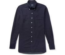 Button-down Collar Pin-dot Cotton Shirt