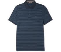 Slim-fit Striped Cotton-piqué Polo Shirt