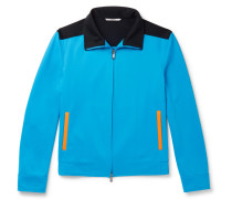 Colour-block Jersey Track Jacket