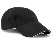 Embroidered Cotton-twill Cap