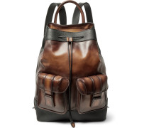 Horizon Polished And Pebble-grain Leather Backpack