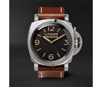 Luminor 1950 3 Days Acciaio 47mm Stainless Steel And Leather Watch