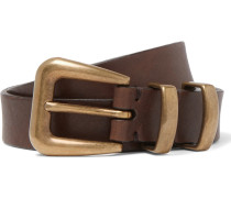 2.5cm Brown Leather Belt