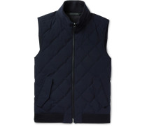 Water-resistant Quilted Trofeo Wool Down Gilet