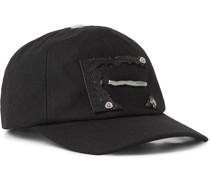 Appliquéd Wool-Twill Baseball Cap