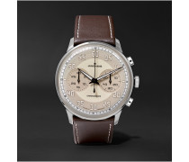 Meister Driver Chronoscope 40mm Stainless Steel And Leather Watch