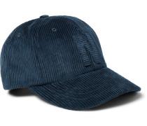 Appliquéd Cotton-corduroy Baseball Cap