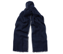Contrast-tipped Cashmere And Silk-blend Scarf