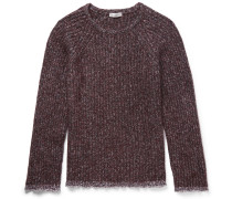 Cotton-trimmed Wool-blend Sweater