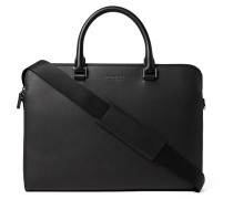 Harrison Cross-grain Leather Briefcase