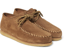 Cigar Suede Moccasin Shoes